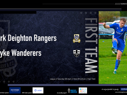 April's Fixtures For Rangers!