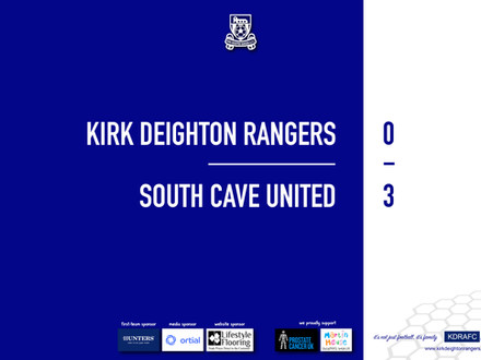 Report: Rangers 0 v 3 South Cave United