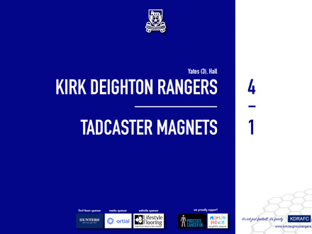 Report: Rangers 4 v 1 Tadcaster Magnets
