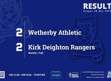 Match Report: Wetherby Athletic 2 v 2 Kirk Deighton Rangers.