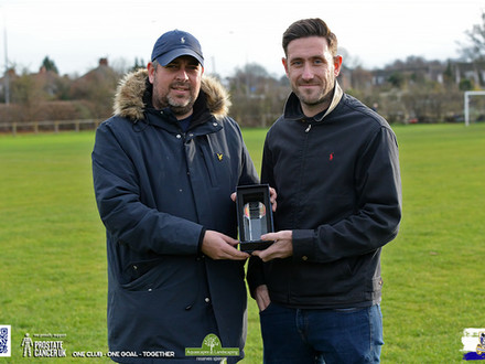 Manager Of The Month Award For Reserves.