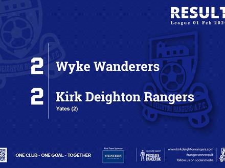 Match Report: Wyke Wanderers 2 v 2 Kirk Deighton Rangers