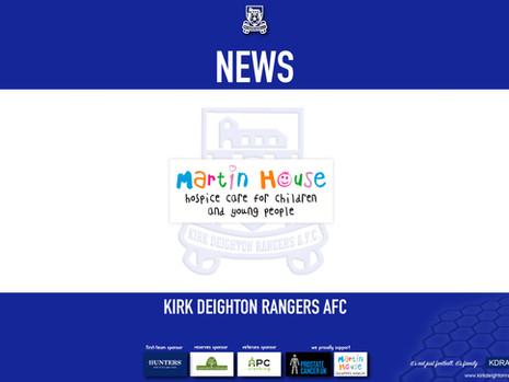 Rangers Donate To Martin House