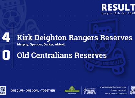 Match Report: Kirk Deighton Rangers Reserves 4 v 0 Old Centralians Reserves.