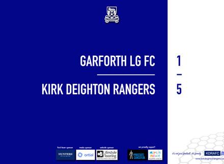 Report: Garforth LG FC 1 v 5 Rangers