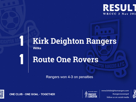 Match Report: Kirk Deighton Rangers 1 v 1 Route One Rovers.