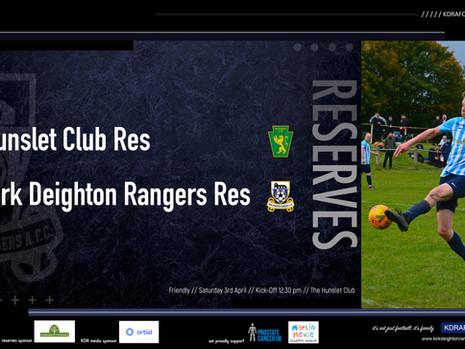 Hunslet Challenge For Our Reserves.