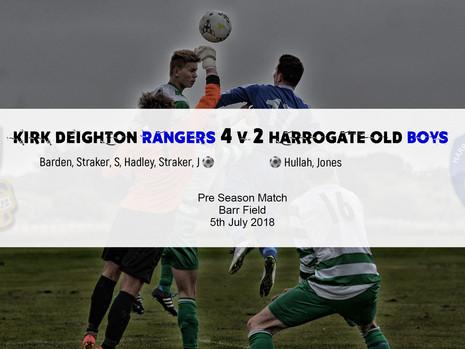 Match Report: Rangers 4 v 2 Harrogate Old Boys