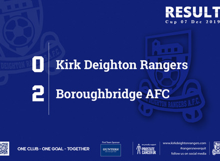 Match Report: Kirk Deighton Rangers 0 v 2 Boroughbridge AFC.