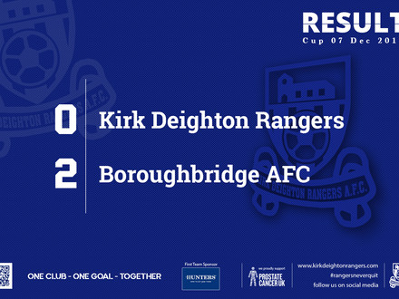 Match Report: Kirk Deighton Rangers 0 v 2 Boroughbridge AFC.