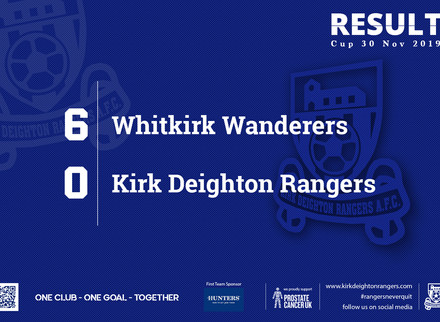 Match Report: Whitkirk Wanderers 6 v 0 Kirk Deighton Rangers