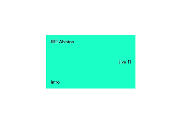 Ableton Live 11 Intro - Licencia software
