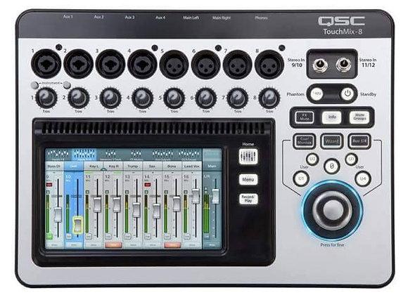 TouchMix-8 QSC - Mixer digital pantalla touch