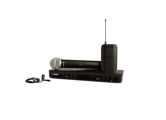 BLX1288/CVL - Shure Sistema combo con microfono de mano PG58 y lavalier CVL