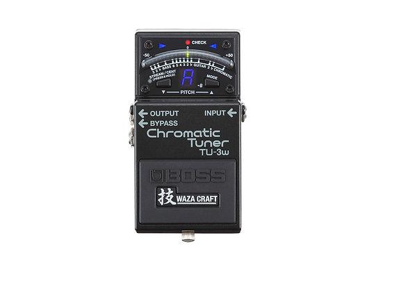 TU-3W Boss Afinador cromatico de pedal para guitarra o bajo