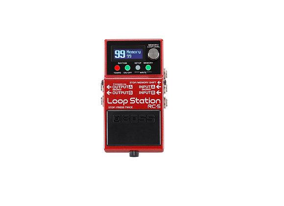 Pedal Compacto Rc-5 Loop Station Estéreo De Boss
