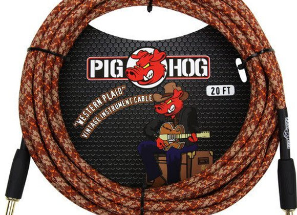 PCH20CP Pig Hog - Cable instrumento 1/4-1/4 6.10 mts