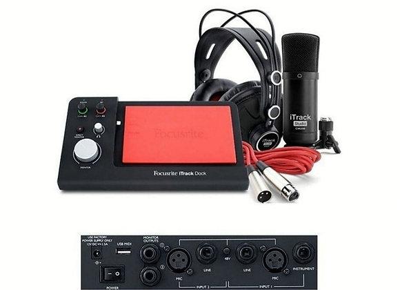 iTrack Dock Studio Pack Focusrite - Kit de grabación para iPad compatible con li