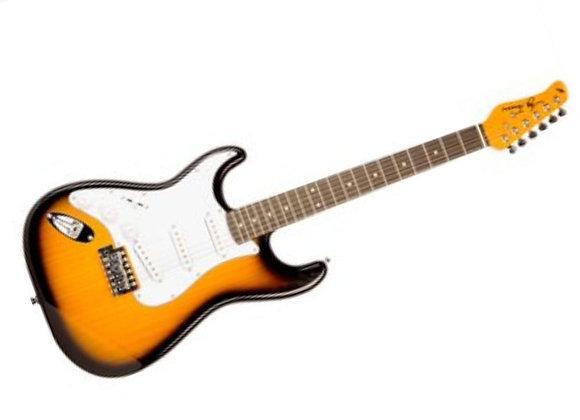 JT-300-TSB Jay Turser - Guitarra Eléctrica Stratocaster Sombreada