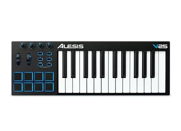 V25 ALESIS - Teclado controlador MIDI 25 teclas