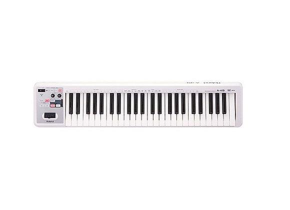 A-49 White Roland - Teclado controlador MIDI 49 teclas