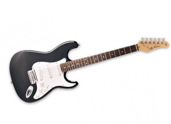 JT-300-BK Jay Turser - Guitarra Eléctrica Stratocaster Negra