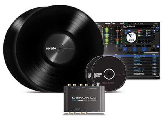 DS1 DENON - Software Serato, interface, discos