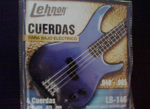 Juego de 4 cuerdas para bajo elèctrico LEHNON