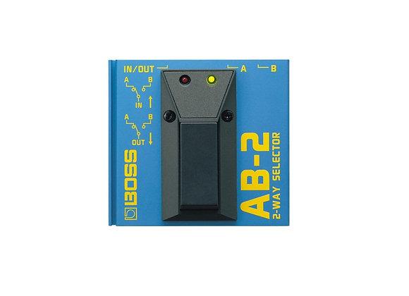 Ab-2 Boss Pedal selector de 2 vías metal color azul