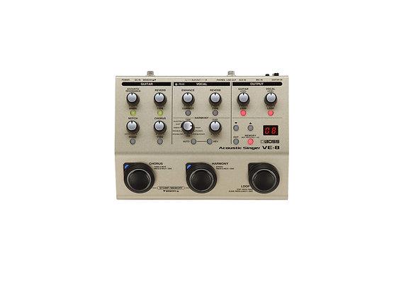 Ve-8 Boss Procesador De Efectos Para El Cantante Acústico