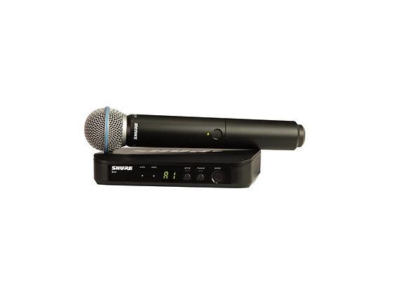 BLX24/B58 - Shure Sistema inalambrico para voz, con microfono Beta 58A