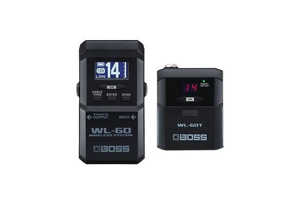 WL-60 Boss sistema inalambrico transmisor bodypack y selector de canales