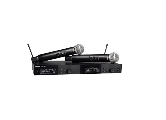 SLXD24D/SM58 Sistema inalámbrico dual con 2 transmisores de mano SLXD2 / 58
