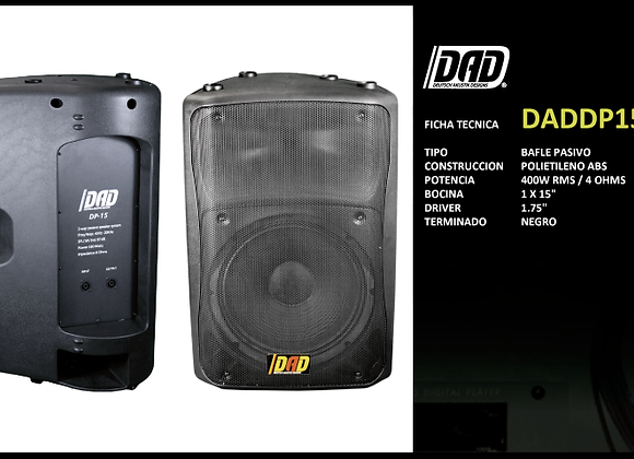 "Bafle pasivo 15"", 400 watts RMS a 4 ohms - DAD"