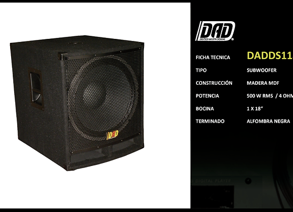 "Subwoofer 18"", 500 watts RMS a 4 ohms - DAD"