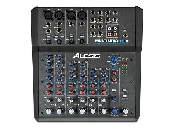 MultiMix 8 USB FX Alesis - Mezcladora USB con efectos