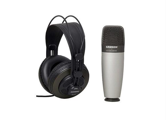 CO1+SR850 SAMSON - Micrófono condensador + audífonos de referencia