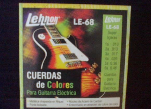 Cuerdas de colores para guitarra elèctrica LEHNON