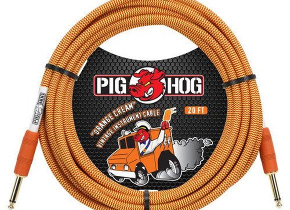 PCH20CC Pig Hog - Cable instrumento 1/4-1/4 6.10 mts