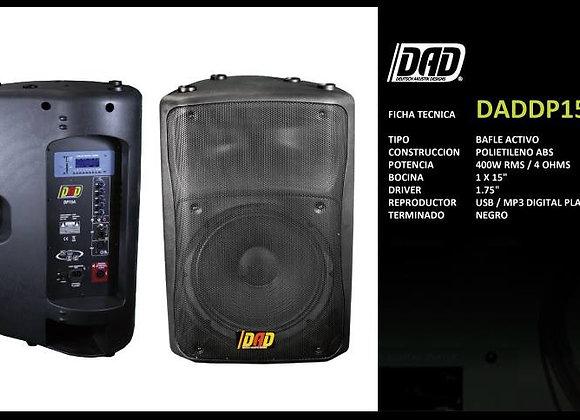 """Bafle activo 15"""", 400 watts, reproduce USB/SD MP3"""