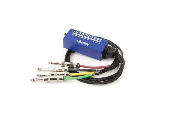 Catapult mini TRS - Radial Splitter Trasmisor de 4 canales en CAT5 o CAT6