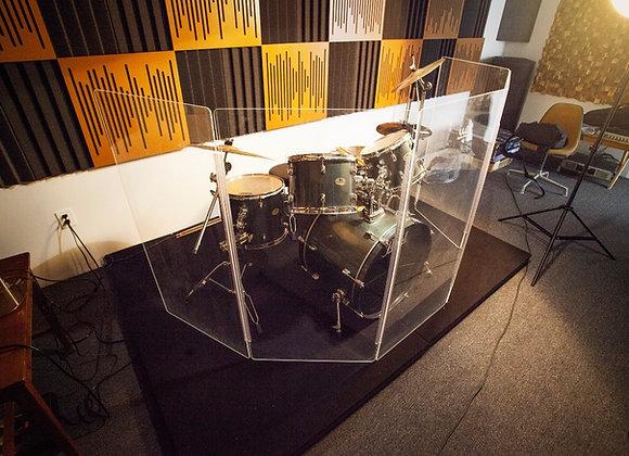 DrumShield - Biombo de acrílico para batería 60cm x 1.50 metros de altura
