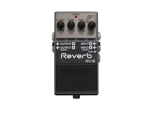 Rv-6 Boss Pedal Compacto Reverb