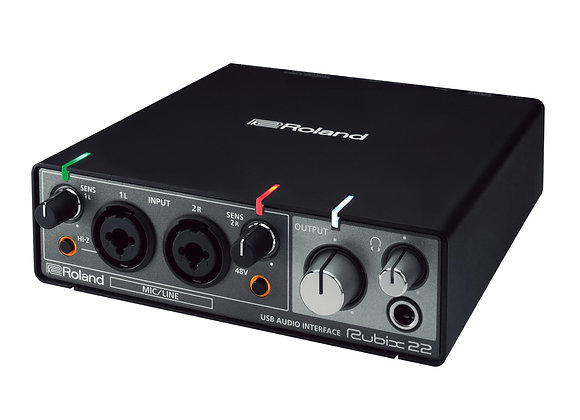 Rubix22 Roland - Interface audio/MIDI 2 entradas/2 salidas