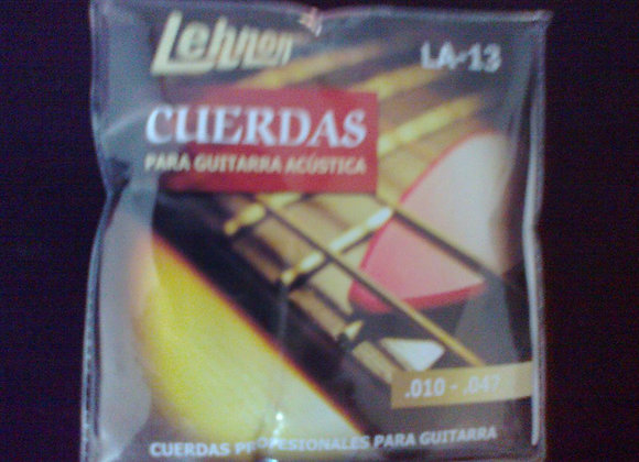 Cuerdas metalicas para guitarra acùstica LEHNON