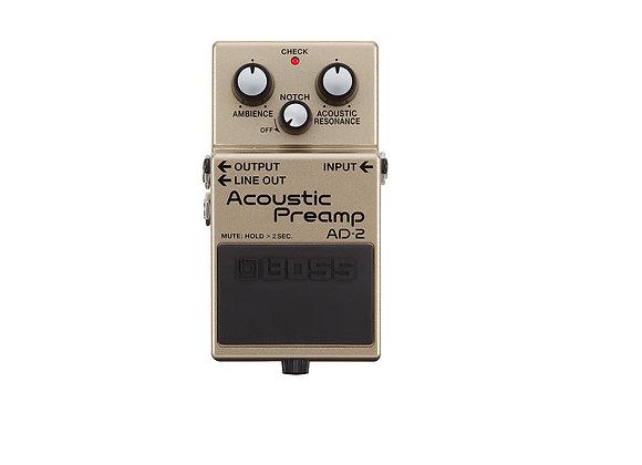 Ad-2 Boss Preamplificador acustico guitarra acustica o electrica