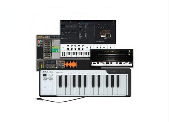 MicroLab ARTURIA Black - Teclado controlador MIDI teclas sensibles