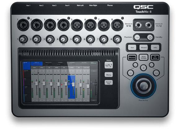 TouchMix 8 QSC - Mezcladora digital 8 canales