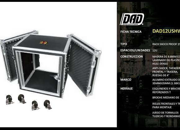 Rack shock proof con ruedas, 12 espacios - DAD