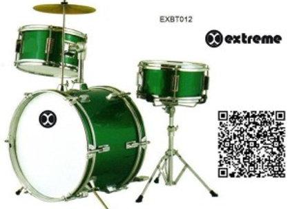 Batería Infantil Verde 3 piezas EXTREME